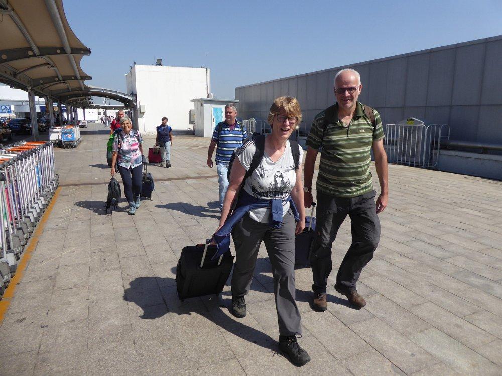 Deelnemers arriveren