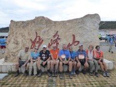 groepsfoto boven op de top